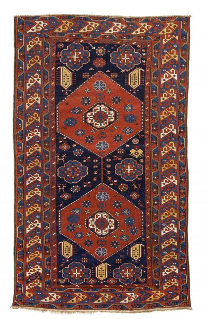 Baku red and blue rug