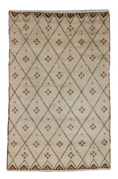 Beni Ourain white carpet