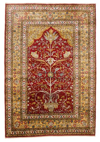 Hereke silk metal carpet