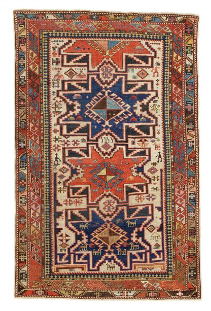 Lesghi antique carpet