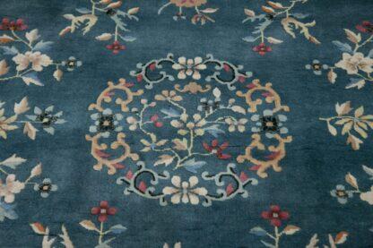 Green art deco carpet