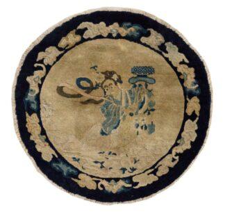 Round Chinese Peking Carpet