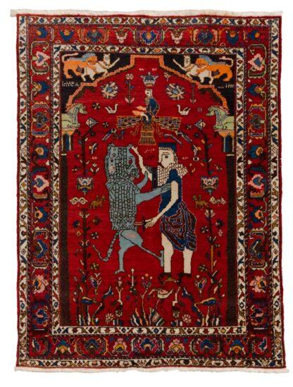 Shiraz figural carpet
