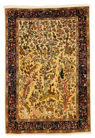 Yellow Tabriz carpet