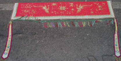 Silk woven with phoenix