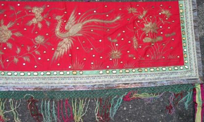 Silk woven with phoenix